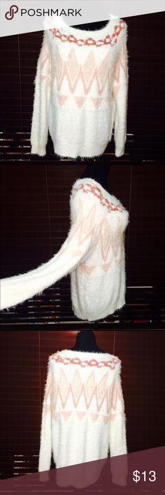 Brand🆕 Lauren Conrad Shaggy Sweater Aztec Design NEVER WORN. Gorgeous Sweater. Super Soft! NWOT⭐️ Lauren Conrad Tops