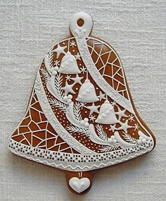 Today we are looking at Moravian and Bohemian gingerbread designs from the Czech Republic. Back home, gingerbread is eaten year round and beautifully decorated cookies are given on all occasions. Iced Cookies, Cute Cookies, Royal Icing Cookies, Holiday Cookies, Cupcake Cookies, Christmas Gingerbread House, Christmas Sweets, Christmas Goodies, Christmas Baking