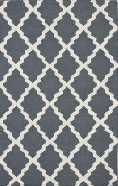 "2'6"" x 8' S;  Rugs USA Homespun Moroccan Trellis Blue Grey Rug"