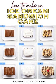 Delicious Cake Recipes, Best Dessert Recipes, Dessert Ideas, Yummy Cakes, Yummy Food, Party Desserts, Sweet Desserts, Sundae Toppings, Sandwich Cake