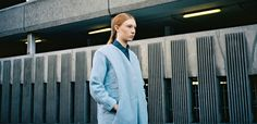 New dystopia  Powder blue Harris Tweed coat designed by Saunt & Sinner Styling: Alexandra Fiddes Photographs: Igor Termenon