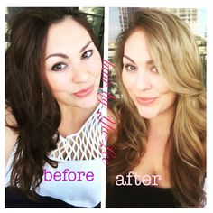 From brown to blonde. all nutrient hair color. Hair by yulee @ VLVT salon