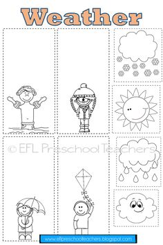 Weather Theme Resources for the ELL Weather Activities Preschool, Creative Activities For Kids, Free Preschool, Phonics Activities, Preschool Worksheets, Weather For Kids, Weather Blog, Weather Unit, Weather Worksheets