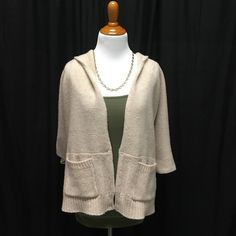 BCBGMaxAzria Open front Cardigan Side pockets. Pull-on. Washable, dry clean recommended. no tears, no stains, worn once, perfect condition. BCBG Sweaters Cardigans