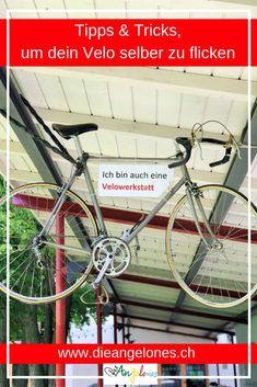 Kannst du dein Velo selber flicken und warten? Es ist wichtig, dass das Fahrrad kontrolliert, gewartet und gereinigt ist. Damit fährt die ganze Familie nicht nur angenehmer, sondern vor allem sicherer! Viele nützliche Tipps & Tricks rund ums Velo flicken und warten haben wir für euch zusammen gefasst.  #Velo #Fahrrad #checken #warten #reparieren #flicken #kontrollieren #DieAngelones #nachhaltig Bicycle, Ovaltine, Sustainable Ideas, Sustainability, Bicycle Kick, Bike, Bmx, Cruiser Bicycle