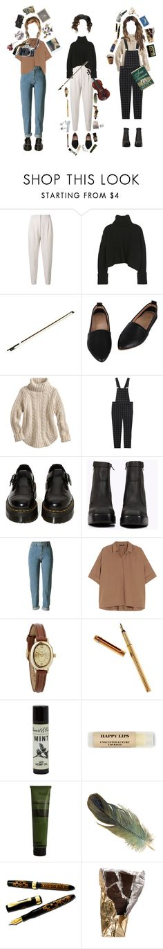 """""""action is character"""" by coffee-and-jazz ❤ liked on Polyvore featuring MaxMara, Monki, Dr. Martens, Jeffrey Campbell, Donna Karan, Infinite, Cartier, SAM., Eos and Aesop"""