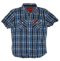 Superdry Mens Washbasket Check S/S Shirt in Miami Check - Blue or Red – Perfect Holiday Wear No Iron Needed! Pack & Go..£48.95 FREE UK P&P http://moyheelandtraders.com/products/superdry-mens-washbasket-check-s-s-shirt-in-miami-check-blue-or-red