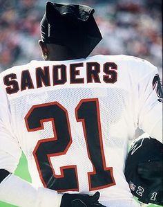 1991 DEION SANDERS Atlanta Falcons FOOTBALL ACTION Glossy Photo 8x10  PICTURE WOW 6ada49040