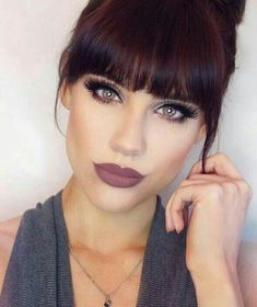 163 hot red hair color shades to dye for red hair dye tips & ideas page 28 Hair Color Shades, Hair Color And Cut, Hairstyles With Bangs, Pretty Hairstyles, Straight Hairstyles, Haircuts, Hair Dye Tips, Dyed Red Hair, Dark Hair