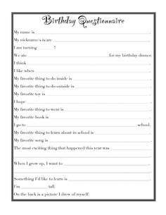 birthday questions - Google Search