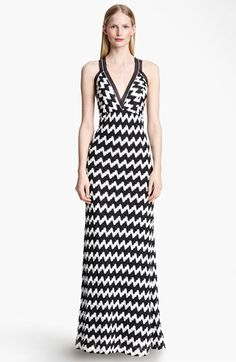 Missoni Bicolor Zigzag Knit Maxi Dress available at #Nordstrom
