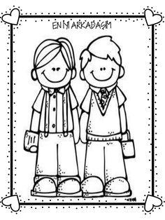 değerler eğitimi arkadaşlık Coloring Pages, Crafts For Kids, Valentines, Education, Math, School, Cards, Handmade, Fictional Characters