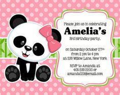 baby panda invitations - Buscar con Google