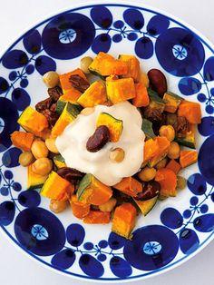 【ELLE a table】かぼちゃと豆の温サラダレシピ|エル・オンライン