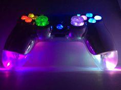 Custom PS4 Dualshock 4 LED Illuminating Controller Chrome