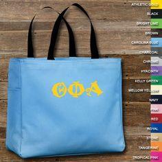 Theta Phi Alpha Sorority Essential Tote $20.99 #ThetaPhiAlpha #TPA #Greek #Sorority #Clothing #Accessory #Accessories  #ToteBag
