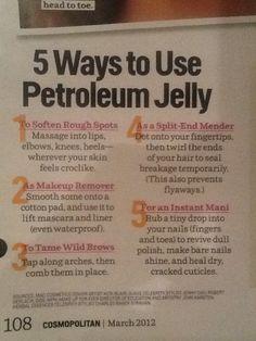 Natural petroleum jelly - hair, nails, makeup remover