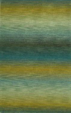 Trans-Ocean Ombre Stripes Blue 9620/04 Area Rug