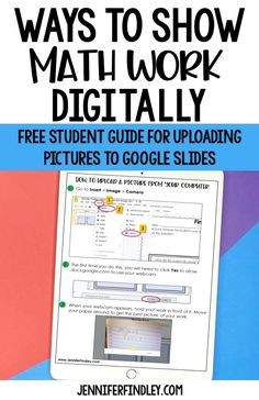How Students Can Show Math Work Digitally - Do you need some ideas for how to have your students show math work digitally? Check out this post for three options, including a free student guide t. Math Teacher, Math Classroom, Teaching Math, Google Classroom, Math Math, Teaching Ideas, Math Games, Online Classroom, Math Multiplication