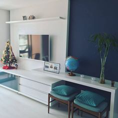 The Best 2019 Interior Design Trends - Interior Design Ideas Small Living Rooms, Home Living Room, Living Room Designs, Living Room Decor, Tv Wall Decor, Design Case, Furniture Design, House Design, Interior Design