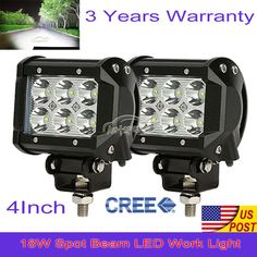2pcs 24w philips flush mount led flood light bar offroad 4x4 truck 2pcs 24w philips flush mount led flood light bar offroad 4x4 truck work 191675983206 for 2600 led flood lights headlight bulbs and offroad aloadofball Gallery