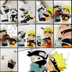 (600×600) characters that are difficult to color because they move too much Naruto x Kakashi <3
