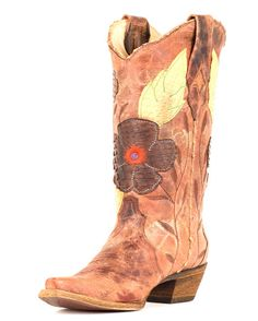 Corral Women's Distressed Brown Daisy Embroidery Cowgirl Boot   http://www.countryoutfitter.com/products/27483-womens-distressed-brown-daisy-embroidery-boot-a2048?code=20130911W10 #cowgirlboots