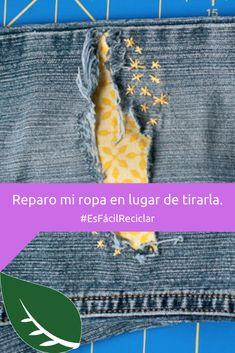 Es increíble cuando le das nueva vida a tus jeans rotos.  🤩