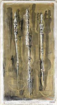Guardian Staffs I By Deborah Bell ,1999