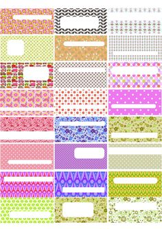 FREE printable tabs for your home binders Free Printable Tags, Printable Designs, Printable Paper, Free Printables, Zentangle, Planners, Project Life Cards, Paper Tags, Tampons