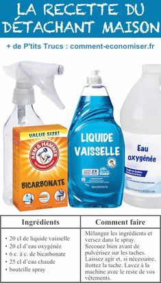Here's the homemade recipe for making an effective home stain remover that replaces commercial products. All Natural Cleaning Products, Diy Cleaning Products, Cleaning Hacks, Cleaning Supplies, Natural Carpet Cleaners, Dish Detergent, Kitchen Benches, Cleaners Homemade, Ways To Save Money