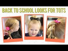 ▶ 3 Easy Back to School Hairstyles for Toddlers - YouTube  Super Cute, Super Easy