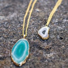 2-Step Turquoise Agate Pendant | Beautiful way to wear cool colors!