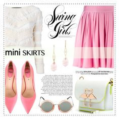 """""""Mini Me: Cute Skirts"""" by alaria ❤ liked on Polyvore featuring Jay Ahr, FAUSTO PUGLISI, Fendi, Sophia Webster, Wouters & Hendrix, Linda Farrow and miniskirts"""