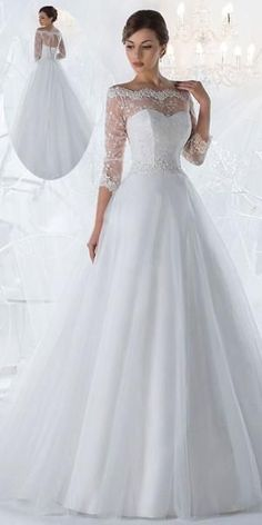 Marvelous Lace & Tulle Off-the-Shoulder Neckline A-line Wedding Dresses with Beaded Lace Appliques Beautiful Wedding Gowns, Luxury Wedding Dress, Dream Wedding Dresses, Bridal Dresses, Beautiful Dresses, Nice Dresses, Girls Special Occasion Dresses, Ball Gowns Evening, Beaded Lace