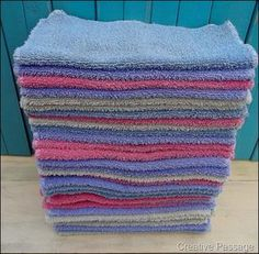 Free Washcloths! I have a few old towels put back for just this purpose!