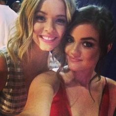 Aww!! What a cute selfie of Lucy and Sasha! They look adorable! | ABC Family | Pretty Little Liars