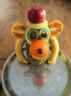 """""""Abe-mad"""" – Kreamors Køkken Creative Food Art, Fruit And Vegetable Carving, Party Sweets, Fruits And Vegetables, Malta, Good Food, Fun Food, Food And Drink, Appetizers"""