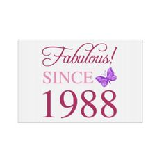 1988 Fabulous Birthday Sign - giftidea gift present idea number thirty thirtieth bday birthday 30thbirthday party anniversary 30th