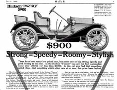 1909 Hudson Automobile Advertisement