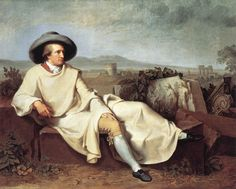 Goethe in the Roman Campagna by Johann Heinrich Wilhelm Tischbein from the Digital Collection of the Städel Museum Google Art Project, Oil Canvas, Canvas Art Prints, Städel Museum, Johann Wolfgang Von Goethe, Grand Tour, Oeuvre D'art, Art Google, Les Oeuvres