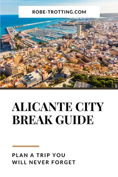 Planning a city break to Alicante, Spain? Our Alicante city guide gives you a list of Alicante attractions to see, foods to eat in Alicante, Alicante hotel recommendations, instagram spots in Alicante and insider travel tips for Alicante, Spain. Use this guide to plan out your perfect Alicante itinerary. Things to do in Alicante   What to do in Alicante   Alicante City Break   What to eat in Alicante   Spanish Foods   Alicante Hotels   Alicante Tours   Alicante Beaches   Holidays in Spain Travel Advice, Travel Guides, Travel Tips, Top Cities In Spain, Best Places To Travel, Places To Visit, Backpacking Spain, Valencia, Spain Culture