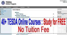 Libre ng mag aral sa TESDA online ngayung 2017. Nandito ang listahan ng course at kung paano mag enroll ng libre.