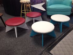 Mid century foot stools or little tables?