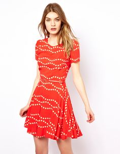 Starry Dress In Spot Print