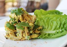 Curried Chicken Salad / @DJ Foodie / DJFoodie.com