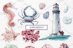 SEA TREASURES Watercolor set - Illustrations - 2