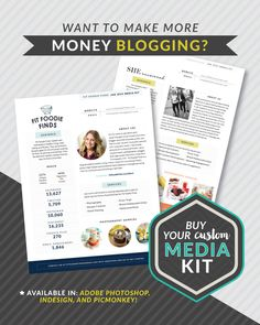 Want to make more money blogging? Customize your own media kit!
