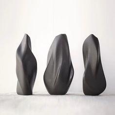 Abstract Sculpture, Sculpture Art, Sculpture Ideas, Organic Form, 3d Prints, Shape And Form, Bottle Design, Installation Art, Ceramic Art