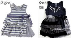 DIY Clothes Refashion: DIY IKKS Striped Sundress Knockoff by Jessica of Me Sew Crazy
